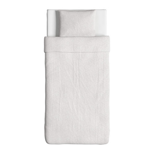 """IKEA """"TRÄDASTER"""" Постельное белье, серый, 150x200/50x60 см"""