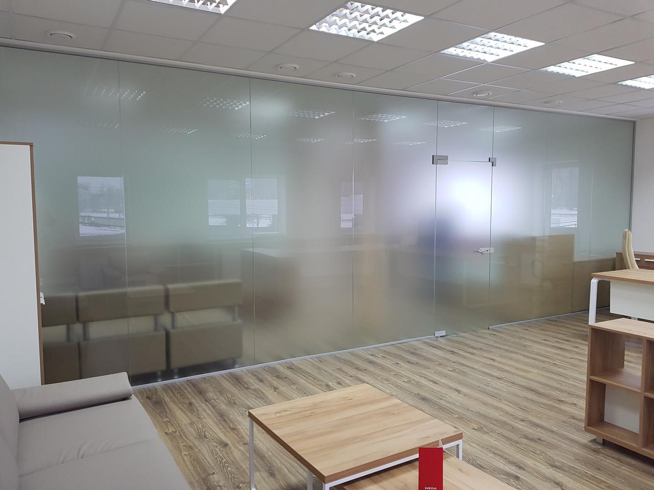 Офисные перегородки из закаленного стекла