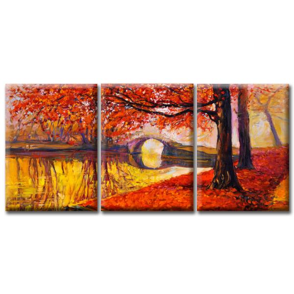 Модульная Картина Golden Autumn. Акция: Бесплатная доставка!