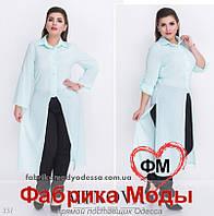 Брючный костюм-двойка большого размера недорого в интернет магазине Украина от ТМ Minova р. 48,50,52,54