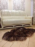 Шкура овечья с коричневыми кончиками, размер 110х70