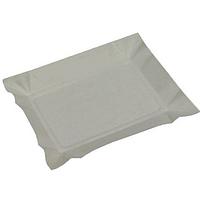 Тарелка бумажная прямоугольная 12*18см белая 100 шт/уп.