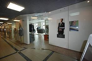 Изготовление стеклянных перегородок для торговых центров