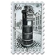 Картина на Стекле Почтовая Марка Belgium. Акция: Бесплатная доставка!