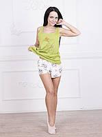 Домашняя одежда женская_Пижамы женские_Пижама для женщины 572/XL/зеленый в наличии XL р., также есть: L,M,S,XL, Роксана_ЦС