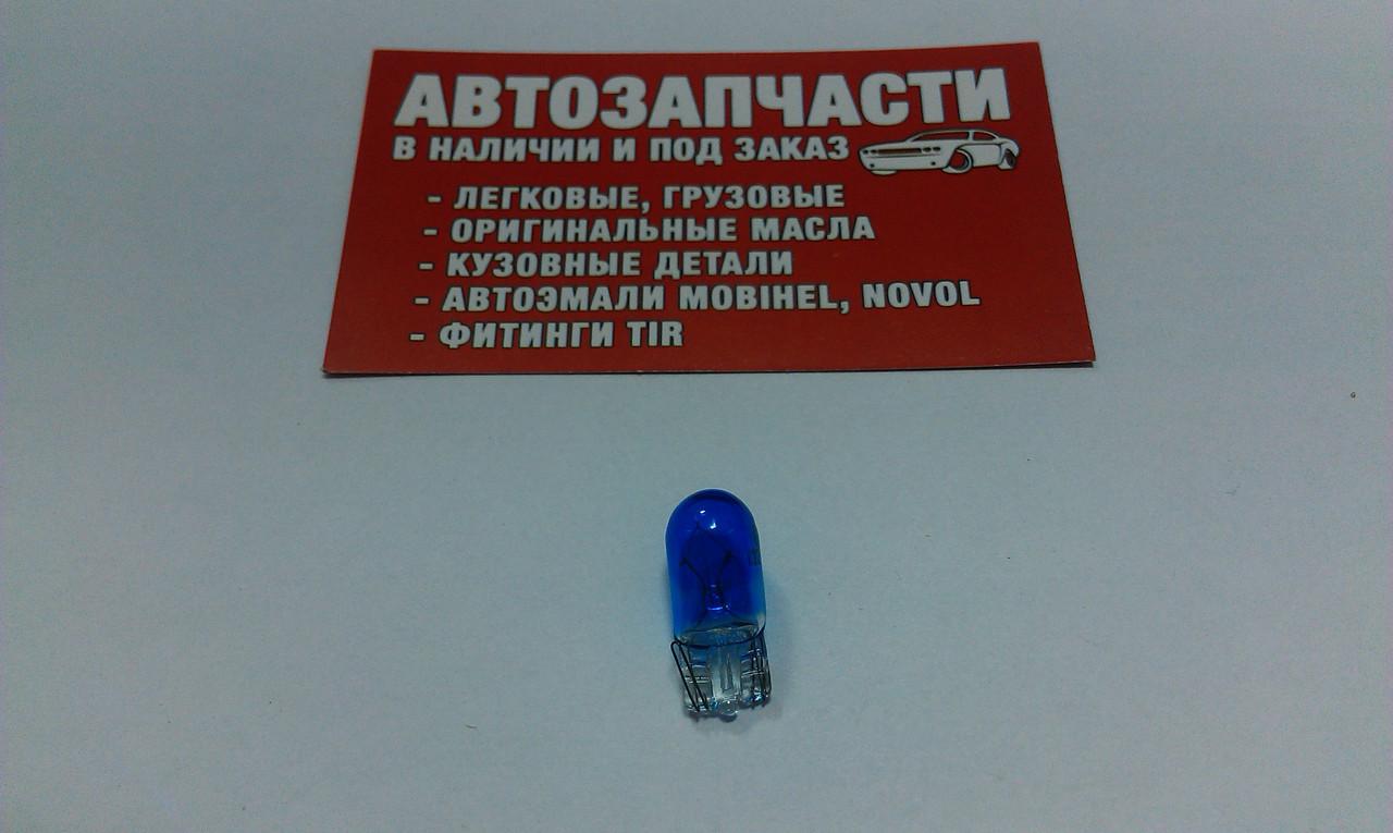 Лампа без цок. 12V 5W синий Китай