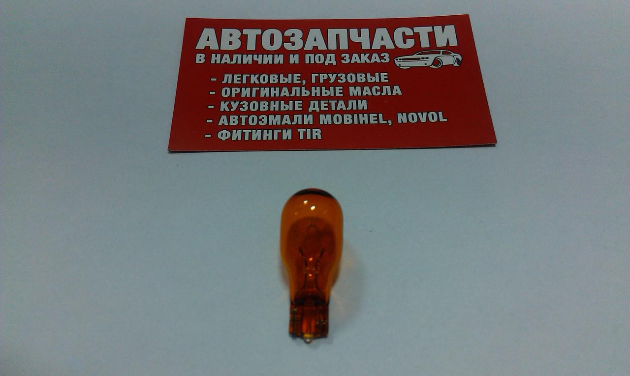 Лампа без цок. 12V 16W желтая Osram