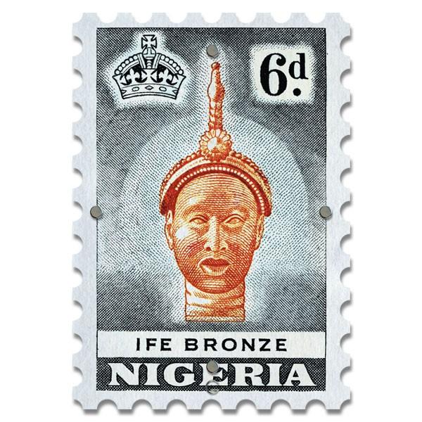 Картина на Стекле Почтовая Марка Nigeria. Акция: Бесплатная доставка!