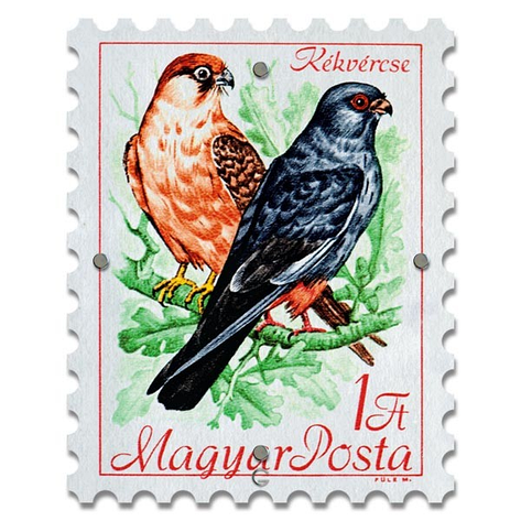 Картина на Стекле Почтовая Марка Magyar, фото 2