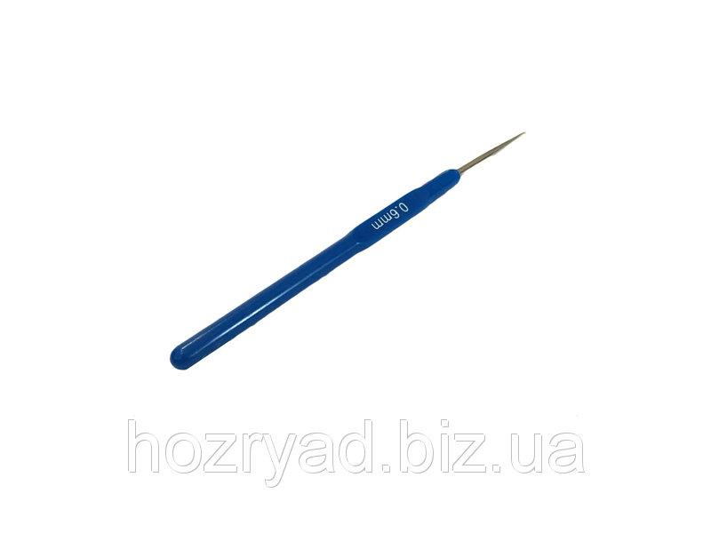 Крючек вязальный односторонний с пластмассовой ручкой 2,5  мм