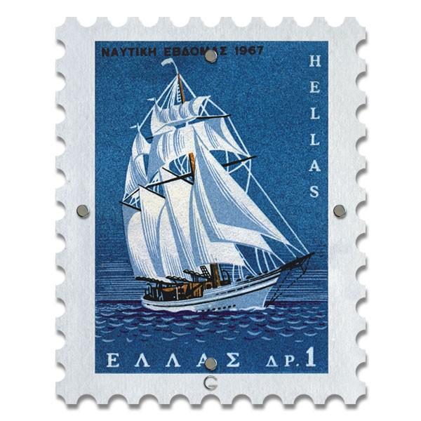 Картина на Стекле Почтовая Марка Greece