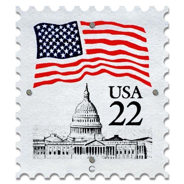 Картина на Стекле Почтовая Марка USA. Акция: Бесплатная доставка!