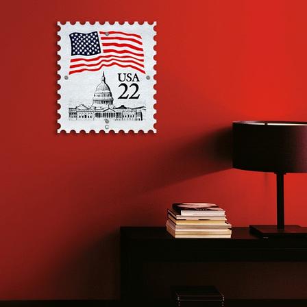 Картина на Стекле Почтовая Марка USA. Акция: Бесплатная доставка!, фото 2