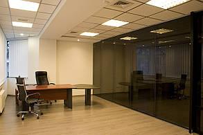 Декоративная перегородка из стекла, изготовление и монтаж