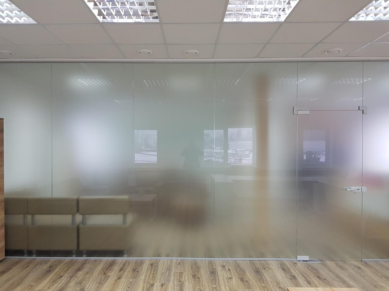 Стеклянные офисные перегородки, изготовление и установка