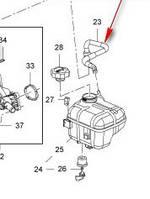 Шланг (трубка, патрубок) отвода газов от расширительного бачка к распределительной трубке GM 1337866 22831214