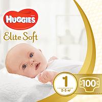 Подгузники Huggies Elite Soft Newborn 1 (до 5 кг), 100 шт.