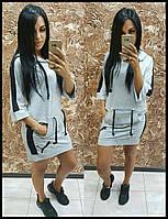 Женское платье Puma Пума ткань двухнитка до 48 размера серое