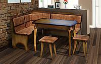 Уголок кухонный + стол+ табуретки Даллас Микс мебель