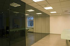 Офисные перегородки из закаленного стекла, изготовление и установка