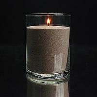 Коричневые насыпные свечи 1 кг + 1 м фитиля, фото 1