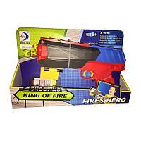 Пистолет RD8850 22см, мягкие пули-присоски 3шт, в кор-ке,28-19-6см