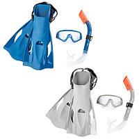 BW Набор для плавания 25020 маска, трубка, ласты, 2цвета,