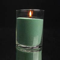 Зеленые (нефритовые) насыпные свечи 1 кг + 1 м фитиля, фото 1
