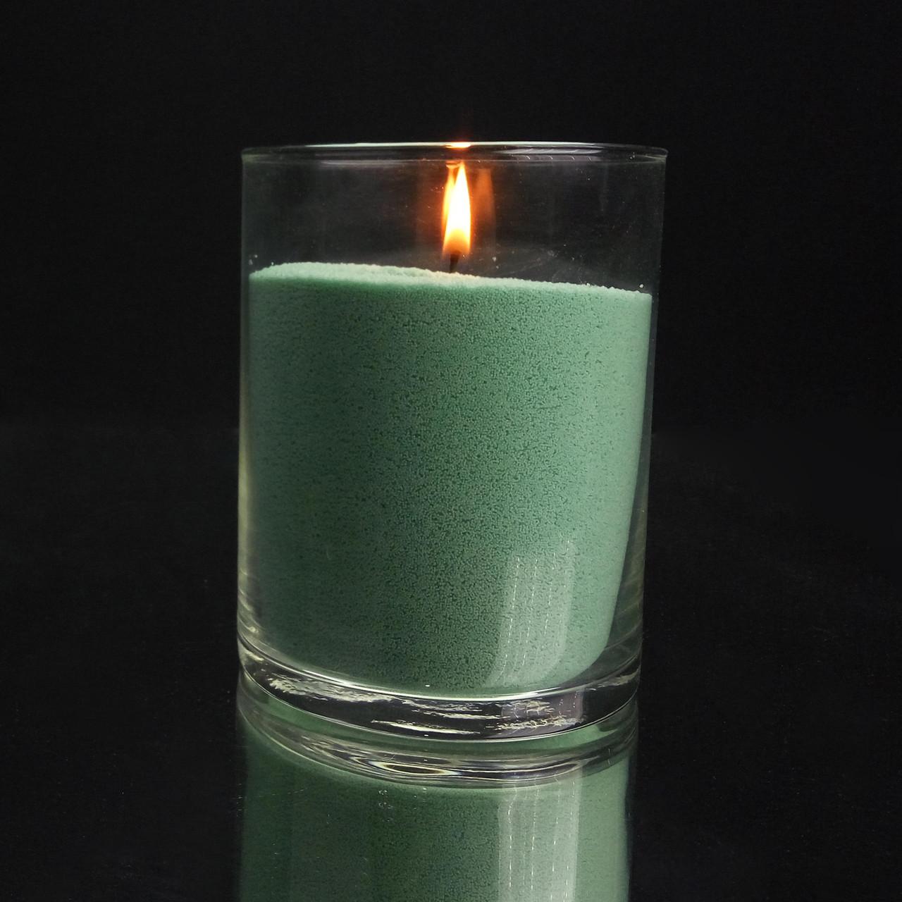 Зеленые (нефритовые) насыпные свечи 1 кг + 1 м фитиля