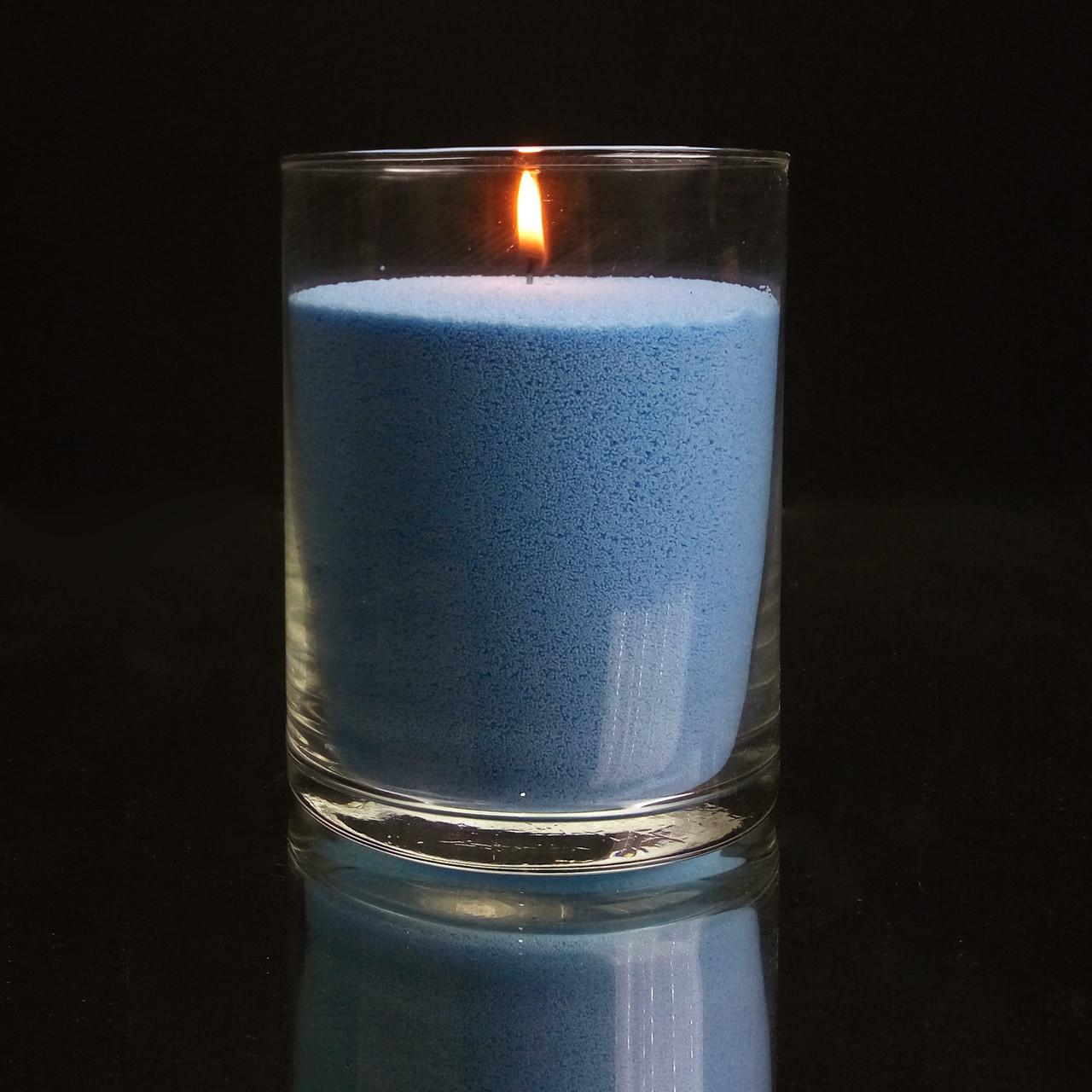 Синие насыпные свечи 1 кг + 1 м фитиля