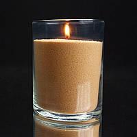 Оранжевые насыпные свечи 1 кг + 1 м фитиля, фото 1