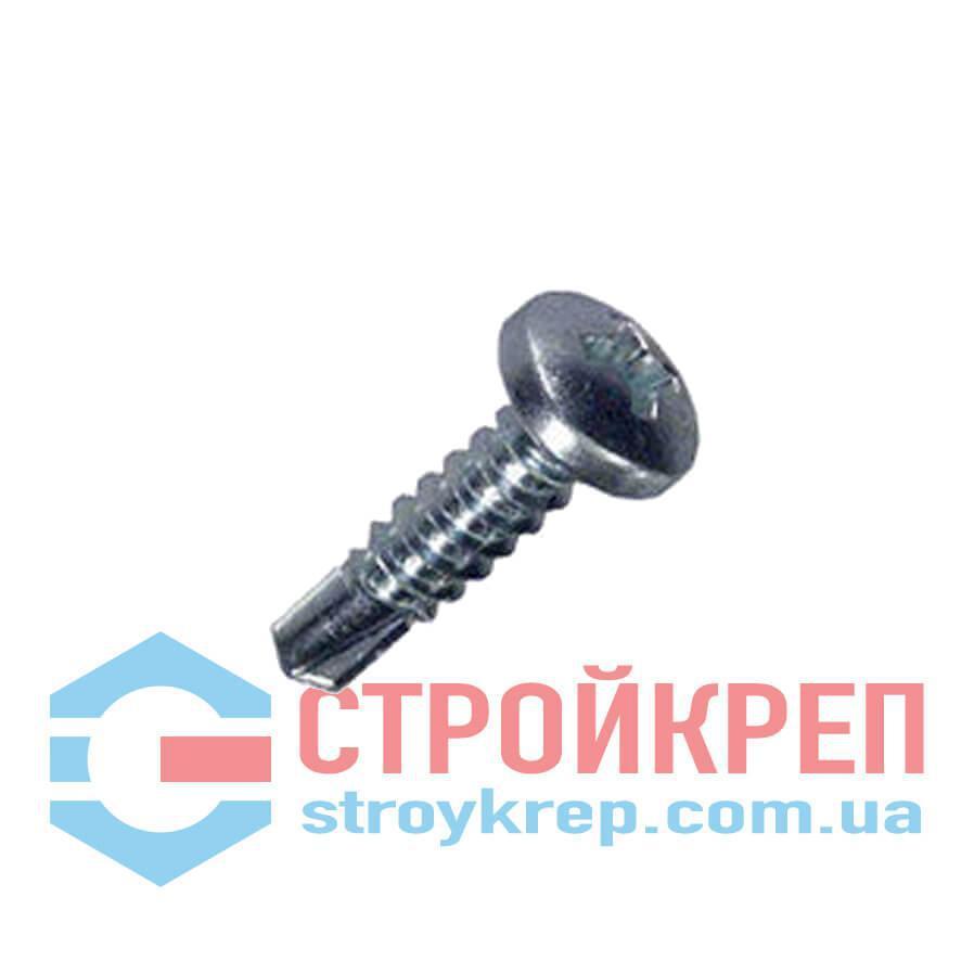 Саморез по металлу с полукруглой головкой и сверлом DIN 7504 N, 3,9х13