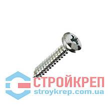 Саморез по металлу с полукруглой головкой острый DIN 7981, 3,9х6,5