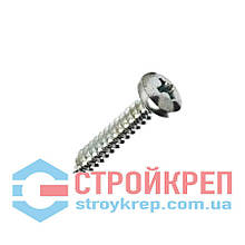 Саморез по металлу с полукруглой головкой острый DIN 7981, 3,9х9,5