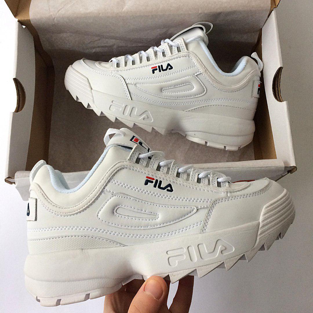 ae22fa6fee907f Мужские кроссовки в стиле Fila Disruptor 2 White Белые - Интернет-магазин