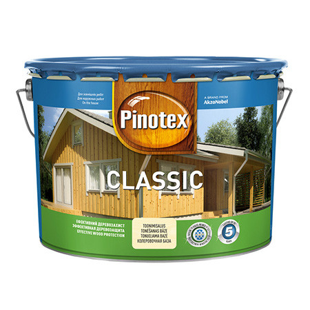 Деревозащитное средство Pinotex Classic 10л (красное дерево, старый дизайн), фото 1