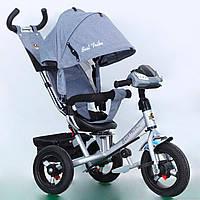 Трехколесный детский велосипед Best Trike 7700 В (2018) (надувные колеса & фара & поворотное сидение)