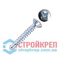 Саморез оконный по металлу со сверлом с насечками БЦ, 3,9х32
