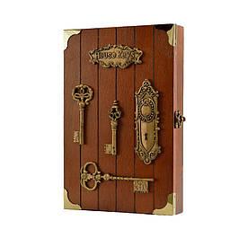 """Ключниця настінна, дерев'яна - """"Ключі на дошці"""" CF2687 X"""