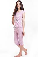 Комплект футболка + бриджи розовый