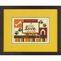 70-65124 Набор для вышивания крестом DIMENSIONS Собачья любовь