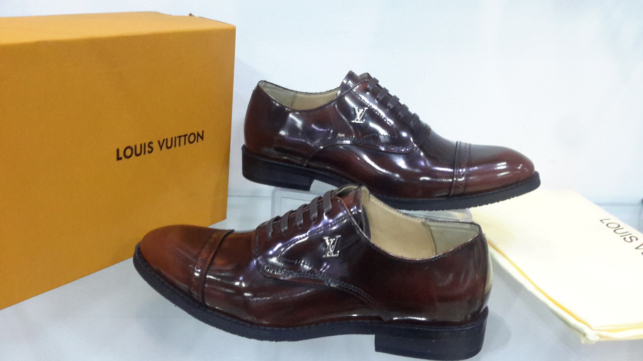 2e9828f99be3 Туфли мужские Louis Vuitton(классика) коричневые,глянцевая кожа -  podiumrovno в Ровно