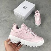 Женские кроссовки Fila Disruptor 2 Pink\White розовые