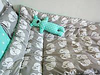 Детское одеяло хлопок, плюш, утеплитель 90*120см
