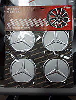 Наклейки на колпачки, заглушки, наклейки на диски 60 мм Mercedes Мерседес ХРом