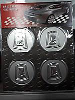 Наклейки на колпачки, заглушки, наклейки на диски 60 мм Лада ВАЗ  хром
