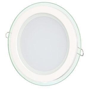 Светильник светодиодный Glass круглый врезной 18Вт 4200K Biom
