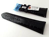 Ремешок Hightone, кожаный, матовый, анти-аллергенный, черный, фото 1