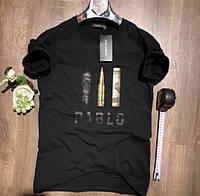 Качественная мужская футболка Pablo Турция черная и белая