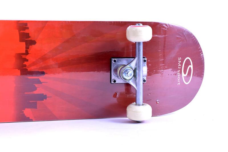 Скейтборд SMJ Sport CR3108 SB red town